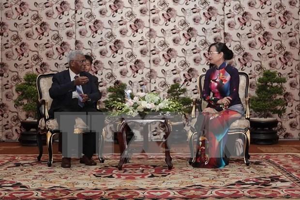 Ciudad Ho Chi Minh recibe a delegacion de Partido Comunista de India hinh anh 1