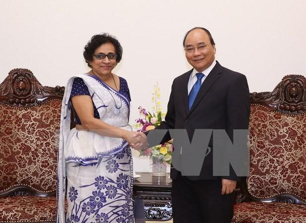 Premier de Vietnam aprecia relaciones con Sri Lanka hinh anh 1