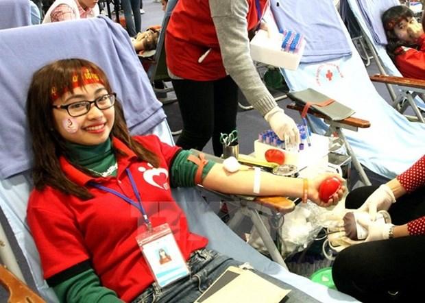 Continua en Vietnam campana de donacion voluntaria de sangre hinh anh 1