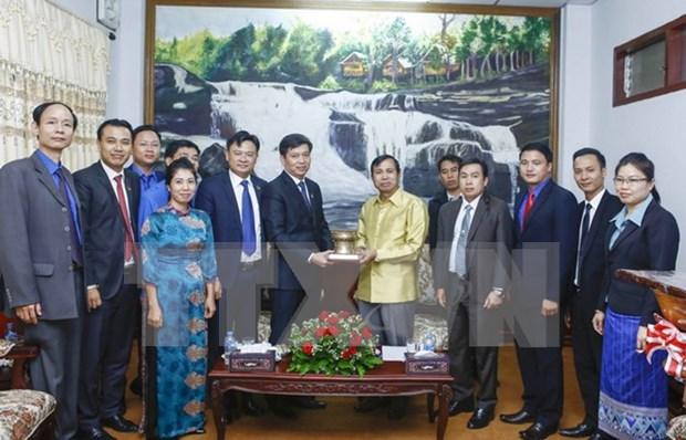 Jovenes vietnamitas y laosianos consolidan la solidaridad especial bilateral hinh anh 1