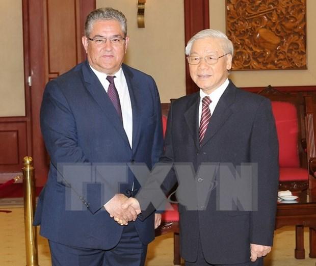 Partidos Comunistas de Vietnam y Grecia consolidan cooperacion hinh anh 1
