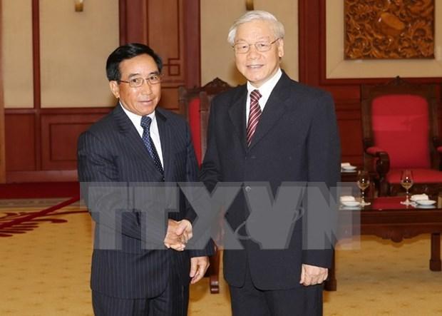 Patentiza Vietnam fuerte apoyo al proceso de renovacion de Laos hinh anh 1