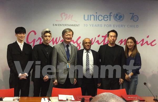 UNICEF y compania sudcoreana impulsan educacion musical en Vietnam hinh anh 1