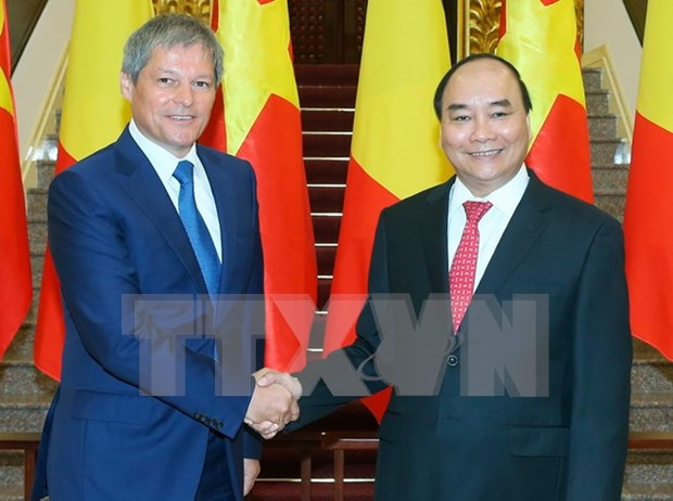 Emiten Vietnam y Rumania declaracion conjunta hinh anh 1