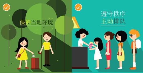 Lanzara turismo de Da Nang normas de conducta en idioma chino hinh anh 1