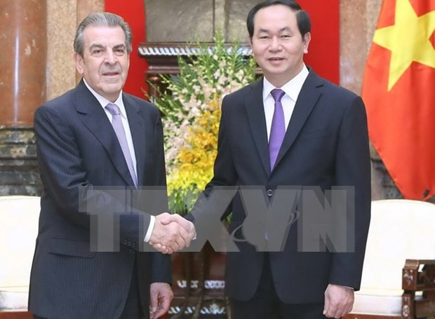 Presidente vietnamita recibe a exmandatario chileno Eduardo Frei Ruiz – Tagle hinh anh 1