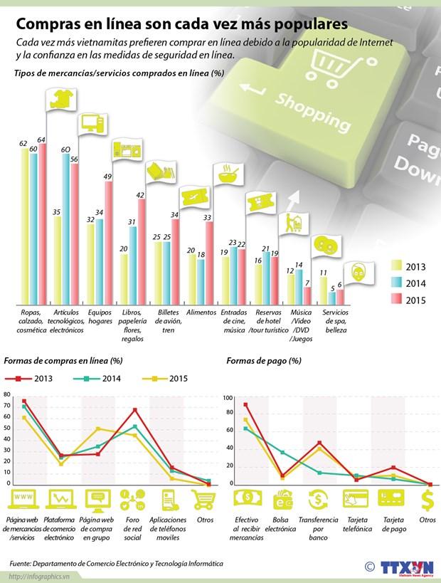 Compras en linea son cada vez mas populares hinh anh 1