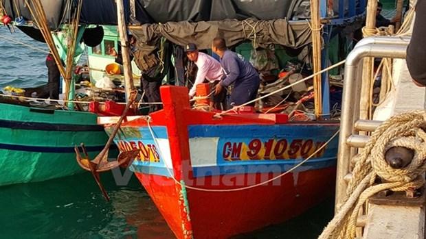 Detienen busqueda del pescador vietnamita desaparecido en aguas tailandesas hinh anh 1