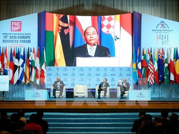 Premier vietnamita llama a respaldar a Pymes en Foro Empresarial Asia- Europa hinh anh 1