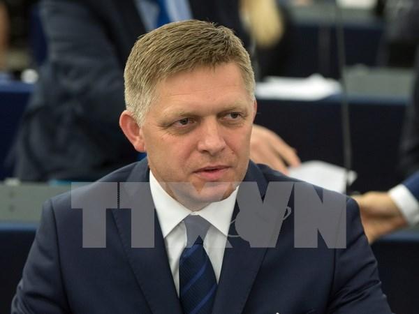Primer ministro de Eslovaquia inicia visita a Vietnam hinh anh 1