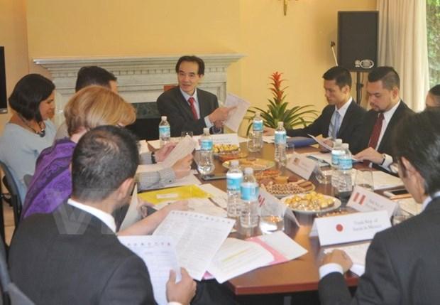 Estableceran Grupo de representantes comerciales de TPP en Mexico hinh anh 1