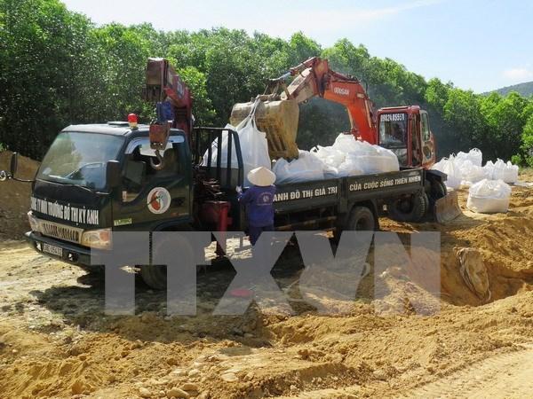 Extraidos todos residuos enterrados ilegalmente por Formosa hinh anh 1