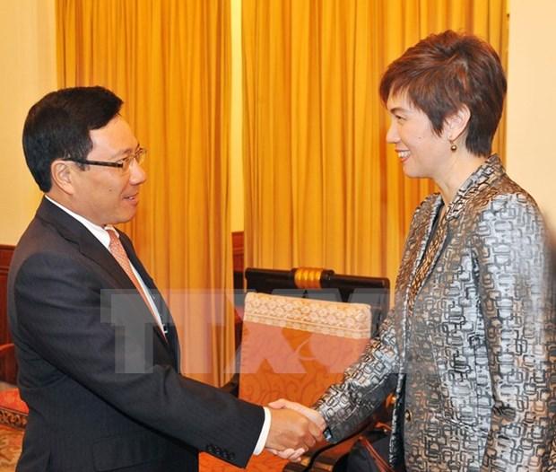 Vicepremier llama a Singapur a facilitar entrada a mercancias vietnamitas hinh anh 1