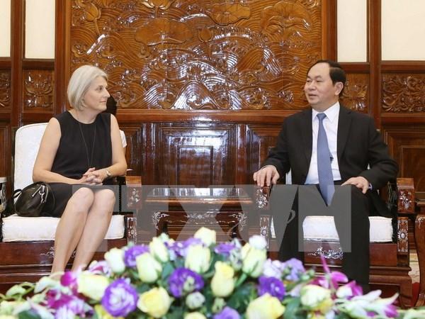 Vietnam aspira impulsar nexos tradicionales con Dinamarca, afirma presidente hinh anh 1