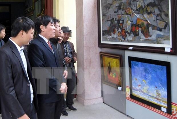 Inauguran exhibicion de bellas artes contemporaneas Vietnam- Sudcorea hinh anh 1
