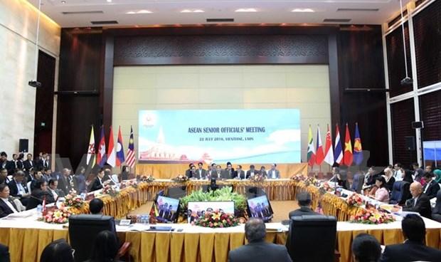 Efectuan en Laos Reunion de Altos Funcionarios de ASEAN hinh anh 1