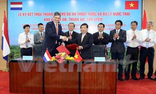 Firman acuerdo de proyecto de tratamiento de aguas residuales en provincia vietnamit hinh anh 1