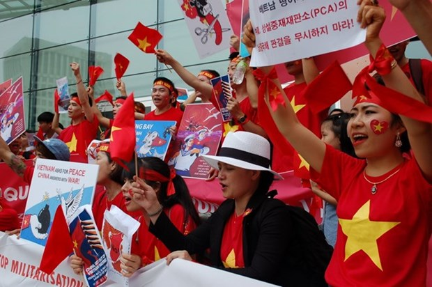 Vietnamitas en Sudcorea protestan contra actos ilegales de China en Mar del Este hinh anh 1