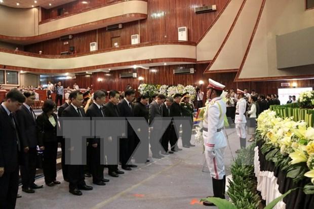 Vietnam rinde tributo postumo a ex dirigente laosiano hinh anh 1