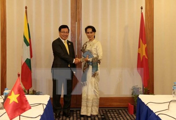 Vietnam y Myanmar pactan robustecer la cooperacion bilateral hinh anh 1