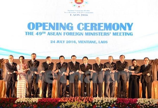 Inauguran Conferencia 49 de Cancilleres de ASEAN en Laos hinh anh 1