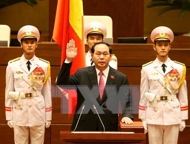Reelegido Tran Dai Quang como presidente de Vietnam hinh anh 1