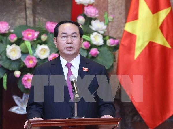 Presidente reitera politica de defender intereses supremos de la nacion hinh anh 1