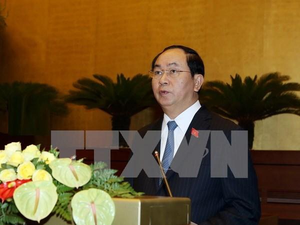 Presentan candidatos a vicepresidente y otros altos funcionarios hinh anh 1