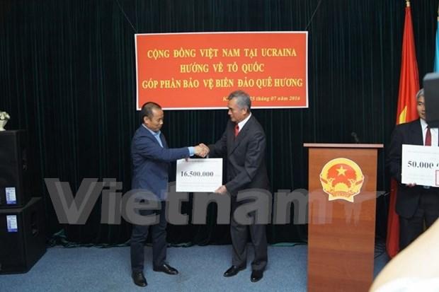 Vietnamitas en Ucrania recaudan por construccion de memorial de martires de Gac Ma hinh anh 1