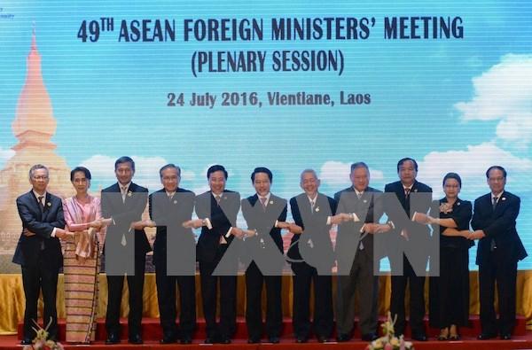Continuan reuniones en marco de Conferencia de Cancilleres de ASEAN hinh anh 1