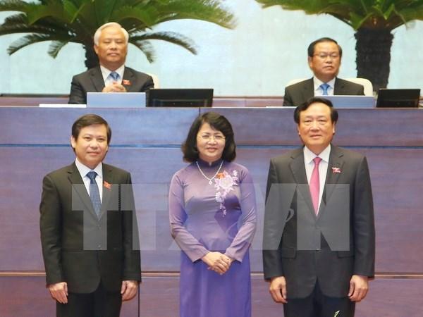 Reelegidos vicepresidenta y otros altos funcionarios de Vietnam hinh anh 1