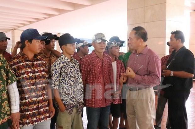 Indonesia repatria a 65 pescadores vietnamitas hinh anh 1