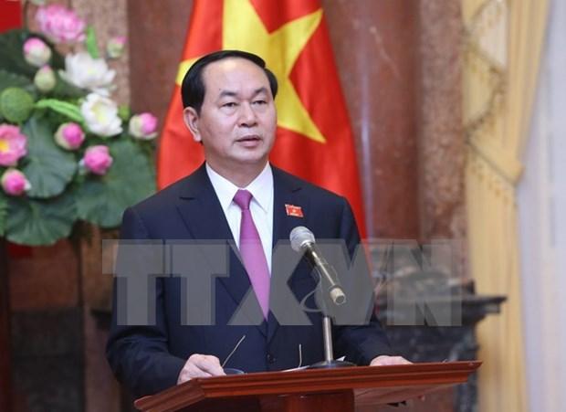 Lideres mundiales congratulan a reelegidos dirigentes vietnamitas hinh anh 1