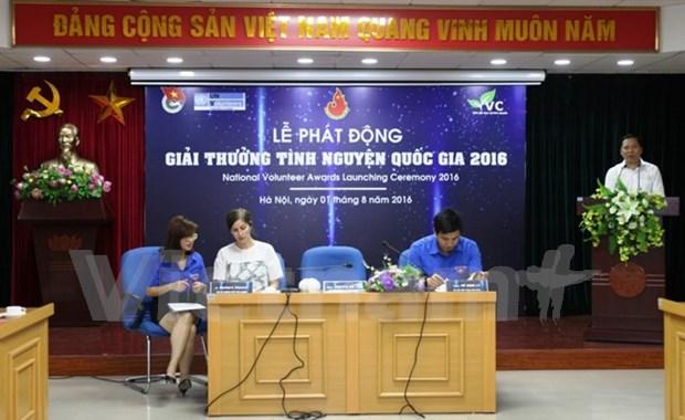 Presentan en Hanoi premio nacional para voluntarios 2016 hinh anh 1