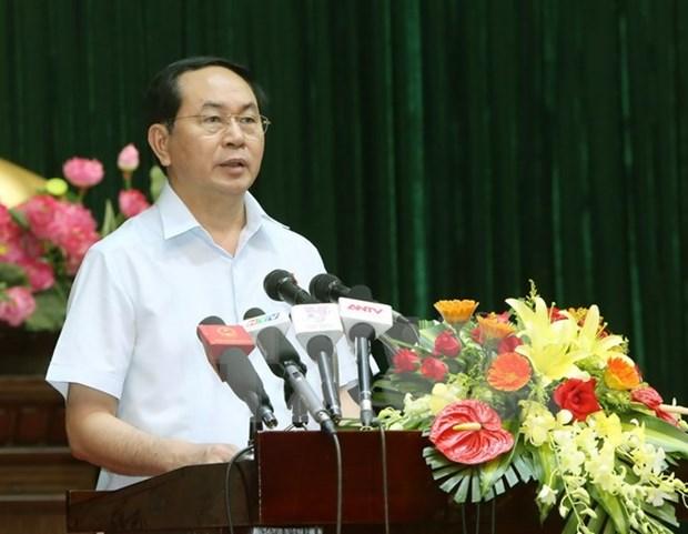 Presidente vietnamita dialoga con electores sobre situacion socioeconomica hinh anh 1