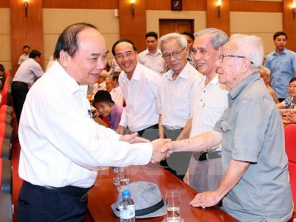 Primer ministro sostiene contacto con electores de Hai Phong hinh anh 1