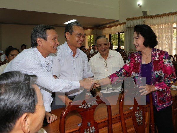 Presidenta parlamentaria se reune con votantes de Can Tho hinh anh 1
