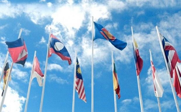 Caminata en Laos en saludo al aniversario 49 de fundacion de ASEAN hinh anh 1