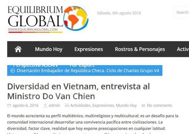 Prensa argentina destaca exitos vietnamitas en trabajo etnico hinh anh 1