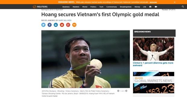 Prensa internacional elogia exito de tirador vietnamita en Juegos Olimpicos Rio 2016 hinh anh 1