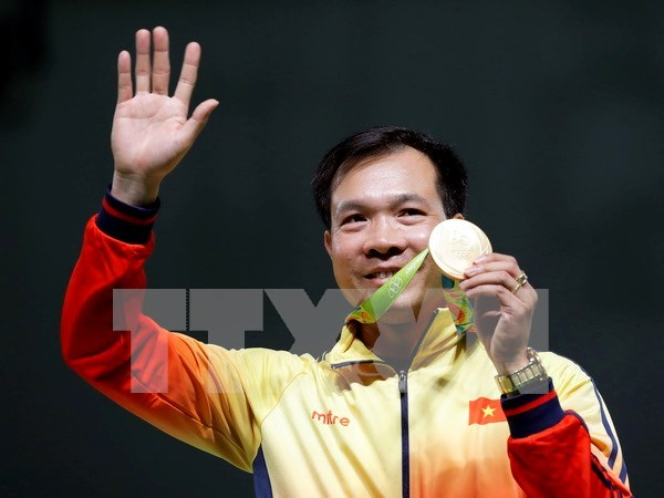 Vietnam se situa temporalmente en sexto lugar en los Juegos Olimpicos hinh anh 1