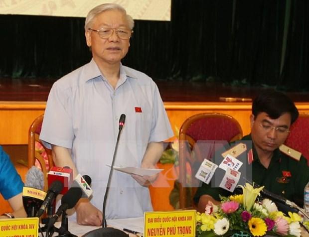 Maximo dirigente partidista de Vietnam reitera determinacion contra corrupcion hinh anh 1