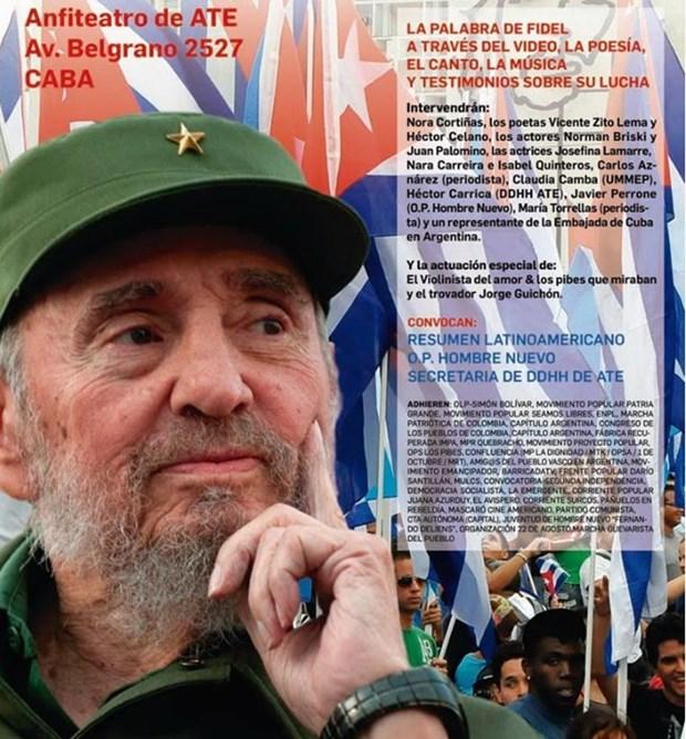 Conmemoran 90 anos del lider Fidel Castro en Sudamerica hinh anh 2