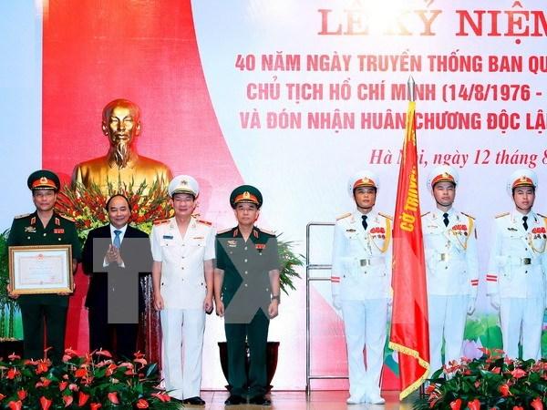 Administracion del Mausoleo de Ho Chi Minh honrada con Orden de Independencia hinh anh 1