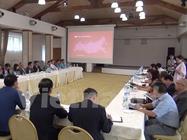 Asociacion de empresas vietnamitas revisa actividades en Rusia hinh anh 1