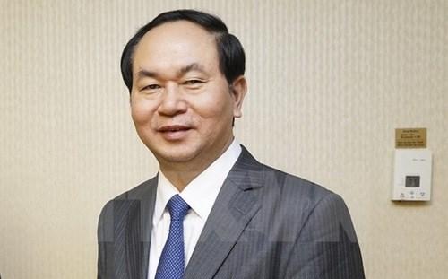 Lideres vietnamitas felicita a Sudcorea por Dia Nacional hinh anh 1