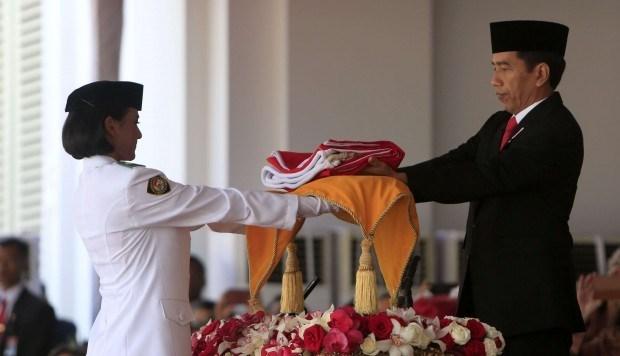 Bandera original de Indonesia desfilada por primera vez desde la independencia hinh anh 1
