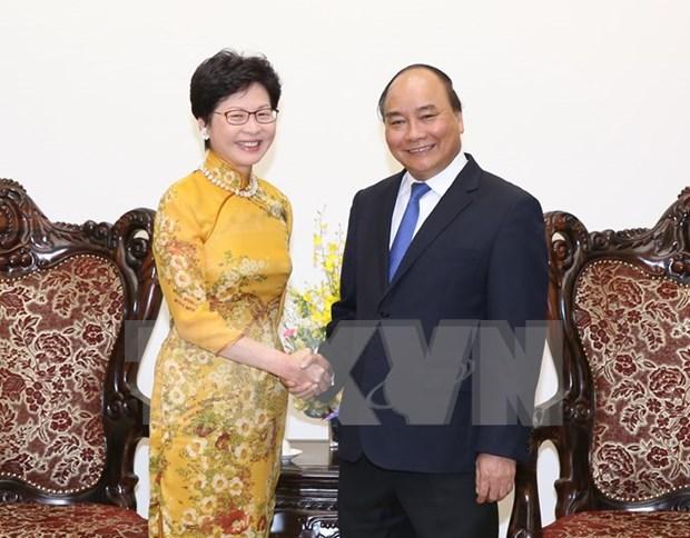 Premier aboga por mayores lazos entre Hong Kong y localidades de Vietnam hinh anh 1