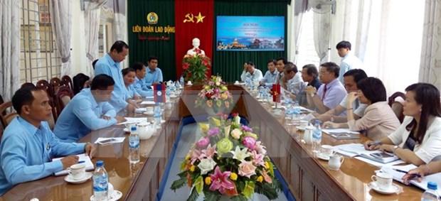 Provincias de Vietnam y Laos incrementan cooperacion sindical hinh anh 1