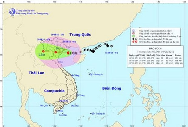 Bac Giang preparada para enfrentar al tifon Dianmu hinh anh 1